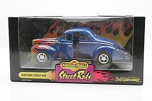American Muscle 1/18 '40 Ford Street Rod Die Cast Car no longer in production