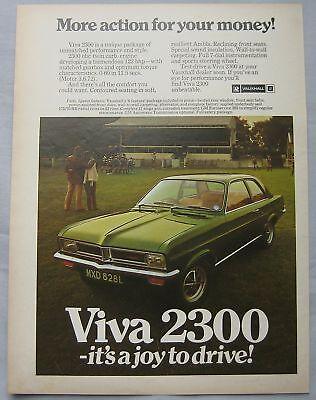 1972 Vauxhall Viva 2300 Original advert
