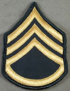 US Army Large Sleeve Rank Insignia Staff Sergeant E-6 / Merrowed Edge / New Pair