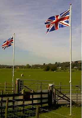 20ft Flagpole Aluminium Flag Pole With 2 Flags