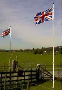 20ft FLAGPOLE, ALUMINIUM FLAG POLE WITH 2 FLAGS