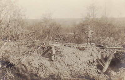 WW1 GERMAN ARMY POSITION PHOTO - 1917 REMONCOURT FRANCE
