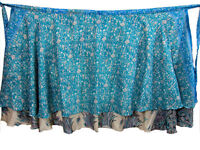 Versatile Magic Wrap Silk Sari Skirt