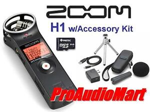 Zoom-H1-Handy-Field-Recorder-w-Accessory-Package-New