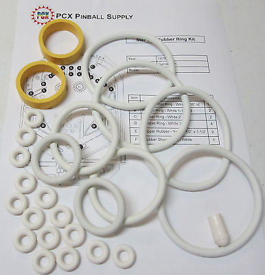 1979 Game Plan Star Trip Pinball Machine Rubber Ring Kit