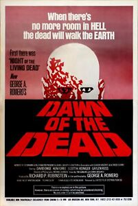 DAWN OF THE DEAD MINI LAMINATED POSTER ZOMBIES ROMERO A4