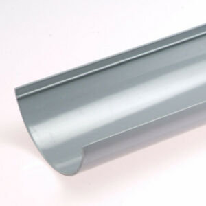 Grey-Half-Round-Guttering-and-Fittings-Gutter-Size-114mm-x-50mm-x-3-6m