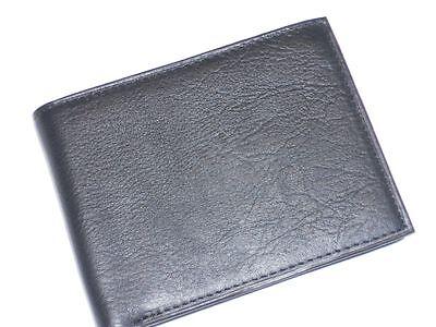 Amity Shotgun Genuine Leather Billfold Wallet,black, Style 217