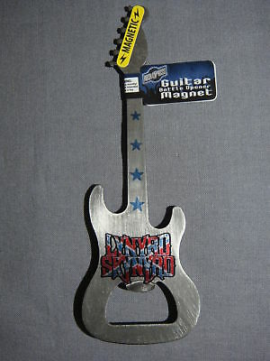 LYNYRD SKYNYRD METAL GUITAR BOTTLE OPENER ROCK AND ROLL MAGNET NOT INCLUDED