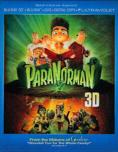 ParaNorman  3D + 2D Blu-Ray + DVD NEW Factory Sealed, Free S