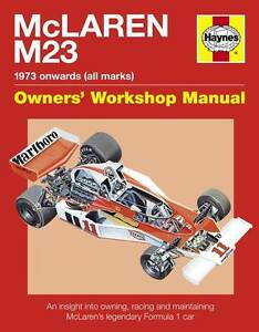 MCLAREN M23 MANUAL BOOK NEW