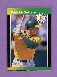 1989 Donruss Mark Mcgwire 43 Baseball Card