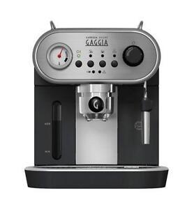 Gaggia Carezza deluxe  Espresso coffee  Machine - Black brand new