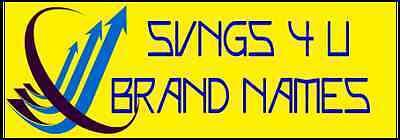 SVNGS4U BRAND NAMES