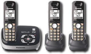 Panasonic-KX-TG6533B-DECT-6-0-GHz-Trio-Single-Line-Cordless-Phone-FREE-SHIPPING