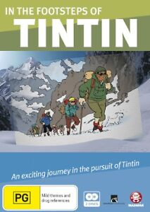 In the Footsteps of Tintin NEW R4 DVD