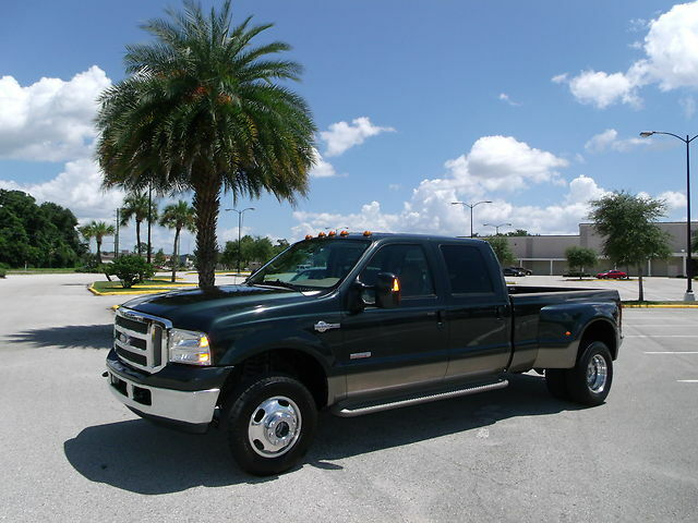 Ford F350 Crew Cab Dually 4WD 4x4 Lariat KING RANCH Turbo Diesel ONE