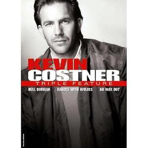 Kevin Costner - Triple Feature (DVD, 2008, 3-Disc Set) Bull Durham Dances Wolves