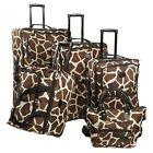 Leopard Print Soft Case Travel Luggage