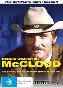 Mccloud - The Complete Sixth Season (3 DVD Set) NEW R4 DVD