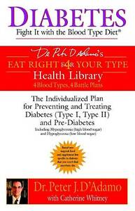 Diabetes: Fight it with the Blood Type Diet - The Indivualized Plan for Preventi