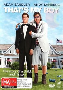 That's My Boy (DVD, 2012) NEW R4 Adam Sandler