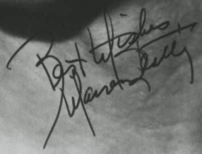 Fake Warren Beatty autograph photo 1985 sent to fans