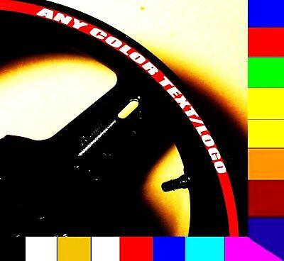 Cool Blue Reflective Motorcycle Rim Stripes Wheel Tape