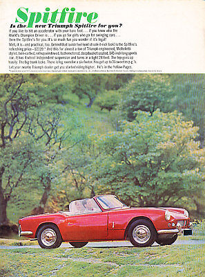 1963 Triumph Spitfire ypg Classic Advertisement Ad P62