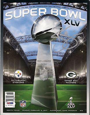 Brett Swain Signed Packers Official Super Bowl XLV Game Program PSA/DNA COA Auto