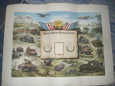 United Stades Army Europe remembrance germany Auszeichnung / ORIGINAL von 1950