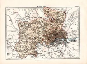 1883-ENCYCLOPEDIA-BRITANNICA-MAP-MIDDLESEX-ENGLAND