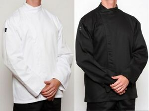 Chef-Jacket-Black-or-White-Metal-Press-Buttons
