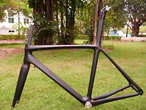 Full-Carbon-bicycle-Road-bike-ISP-Frame-Fork-54cm-matt-black
