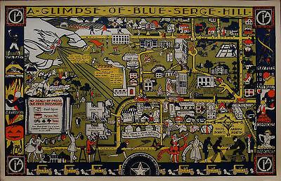 "Coreen Spellman Exceptional 1928 Color Woodblock ""CIA Campus"" Texas Woman Artist"