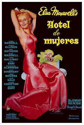 Movie Poster.hotel Mujeres.peliculas Cubanas.history Bar Room Decor.016i