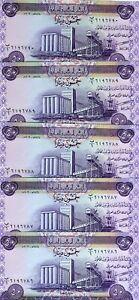 LOT-Iraq-5-x-50-Dinars-2003-P-90-UNC