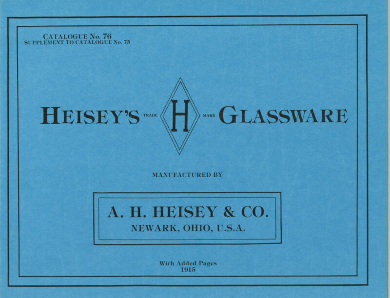 Heisey's Glassware Catalogue No. 76
