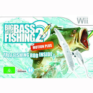 Big Catch Bass Fishing 2 + Fishing Rod Wii Brand New
