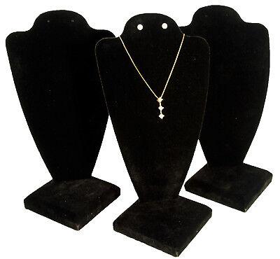 3 Black Velvet Necklace Earring Jewelry Display 10