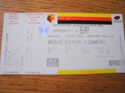 20/03/1999 Ticket: Watford v Bury  . No obvious faults,