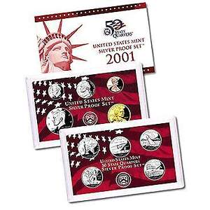 2001 US Mint Silver Proof Set