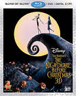 The Nightmare Before Christmas (Blu-ray/DVD, 2011, 3-Disc Set, Includes Digital Copy; 3D)