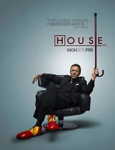 the house movie new tv poster print house md hugh laurie a3 a4 ebay 11713