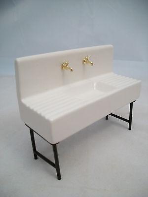 1920s Porcelain Sink kitchen dollhouse miniature D6268 1/12 scale