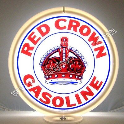 RED CROWN GASOLINE GAS PUMP GLOBE  FREE SHIPPING