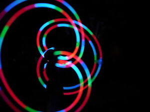 LED Glow POI soft ball bright full colour strobe fire