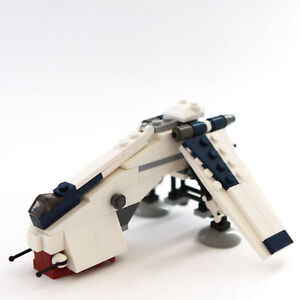 lego star wars custom mini set republic drop ship for gun ...