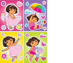 Dora The Explorer 15x20 4 Pack Set Wall Decal Removable