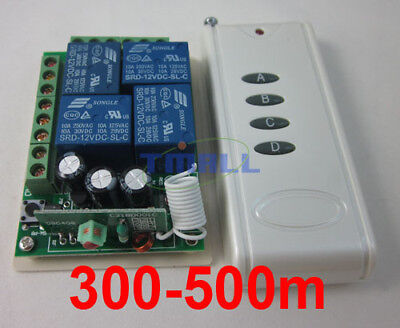 12V 4 Channel Remote Control Switch Relay Output 500m